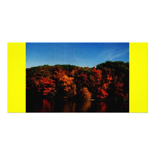 mill creek in the fall personalized photo card