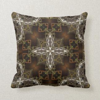 Mill Mosaic Kaleidoscope Pattern Throw Pillow