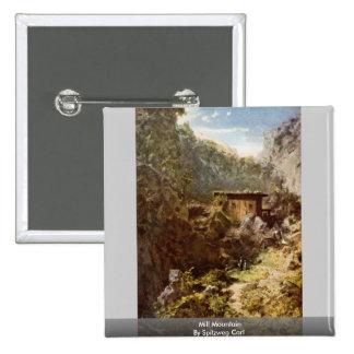 Mill Mountain By Spitzweg Carl Pinback Buttons