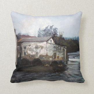 Mill of Xubia (Narón. To Corunna) /Mill in Xubia Throw Pillow