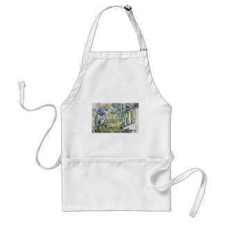 Mill On The River By Paul Cézanne (Best Quality) Adult Apron