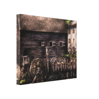 Mill - Sleepy Hollow, NY - By the mill  Stretched Canvas Print