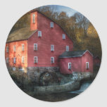 Mill - The old mill Round Stickers