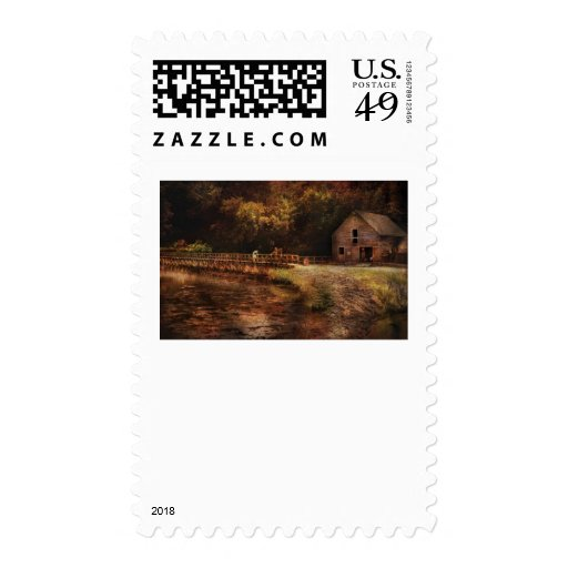 Mill - The Villiage Edge Postage Stamp