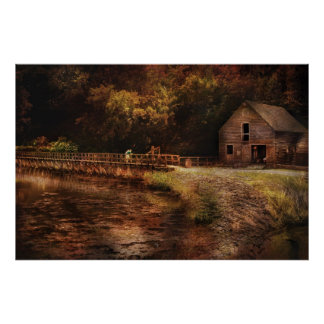 Mill - The Villiage Edge Print