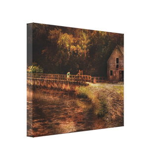 Mill - The Villiage Edge Stretched Canvas Prints
