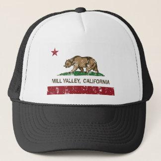 Mill valley california flag trucker hat