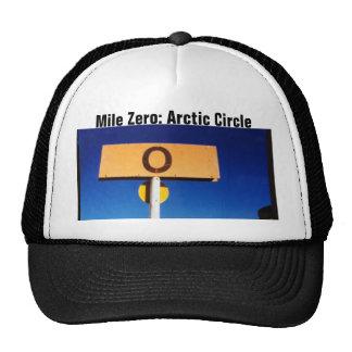 Milla cero del Círculo Polar Ártico de Alaska Gorros