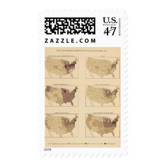 Milla de 207 Manufactures/sq Timbres Postales