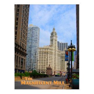 Milla magnífica - Chicago Illinois Tarjeta Postal
