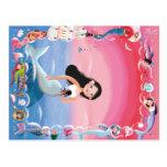 Milla the Mermaid illustration Postcard