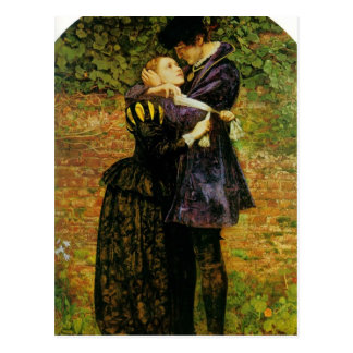 Millais-Denegación de Juan del refugio por un hugo Tarjeta Postal
