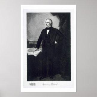 Millard Fillmore, décimotercero presidente del Sta Poster