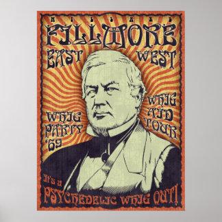 ¡Millard Fillmore - Whig hacia fuera! Póster
