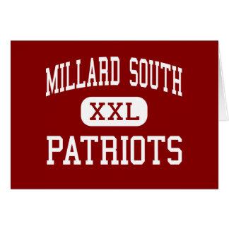 Millard South - Patriots - High - Omaha Nebraska Greeting Card