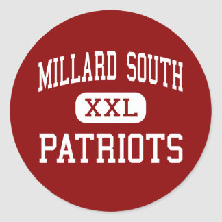 Millard South - Patriots - High - Omaha Nebraska Classic Round Sticker