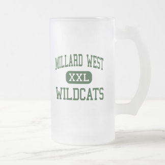 Millard West - Wildcats - High - Omaha Nebraska Frosted Glass Beer Mug
