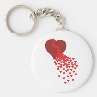 Millares de corazones llavero personalizado