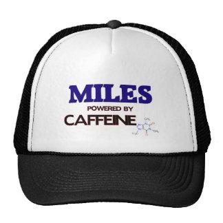 Millas accionadas por el cafeína gorros