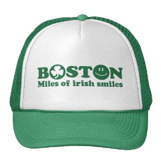 Millas de Boston de sonrisas irlandesas Gorros