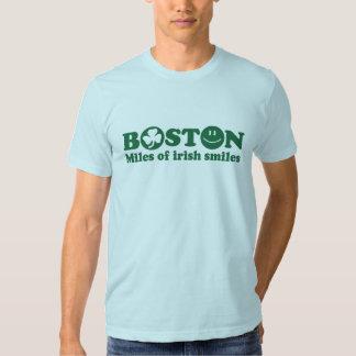 Millas de Boston de sonrisas irlandesas Poleras