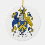 Millas de escudo de la familia ornamentos para reyes magos