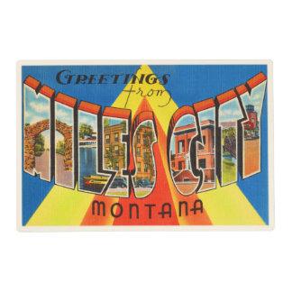 Millas de la ciudad de Montana de la TA del Tapete Individual