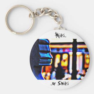 Millas de sonrisas - París Llavero Redondo Tipo Pin