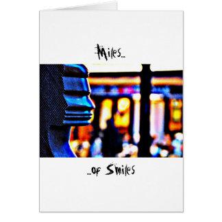 Millas de sonrisas - París Tarjeta De Felicitación