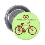 Millas del infinito por el botón de la bici del ga pins