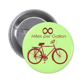 Millas del infinito por el botón de la bici del ga pin redondo de 2 pulgadas