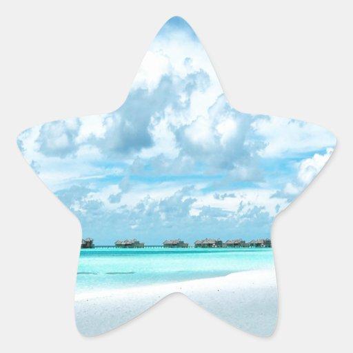 Millas Maldivas de la playa Pegatina En Forma De Estrella