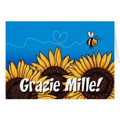 ¡Mille de Grazie! (El italiano le agradece tarjeta