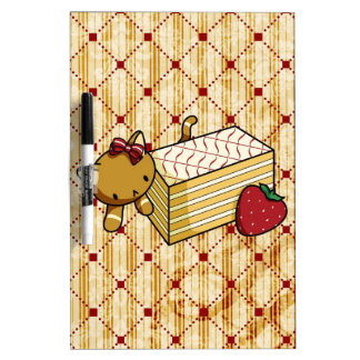 Mille Feuille Kitty Dry Erase Board