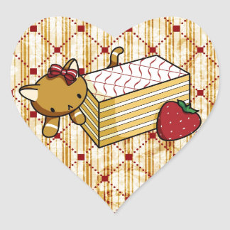 Mille Feuille Kitty Heart Sticker