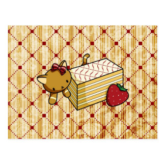 Mille Feuille Kitty Postcard