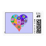 Millefiori quilt heart  stamps