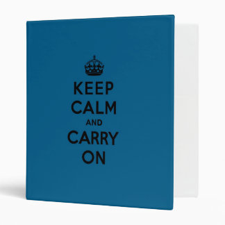 Millenium Blue Keep Calm and Carry On (black) Binder