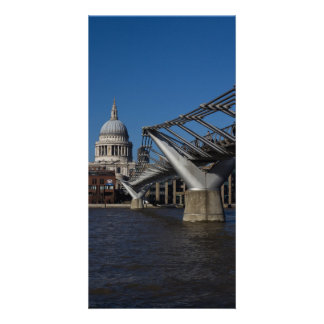 Millenium Bridge and St Paul's Cathedral Card