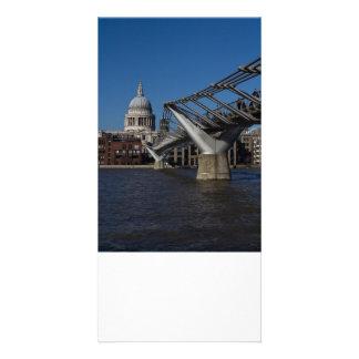 Millenium Bridge and St Pauls Cathedral Card