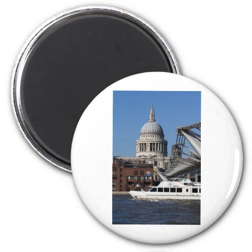 Millenium Bridge and St Pauls Cathedral Fridge Magnets