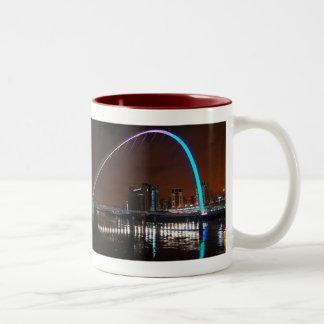 Millenium Bridge, Gateshead Two-Tone Coffee Mug