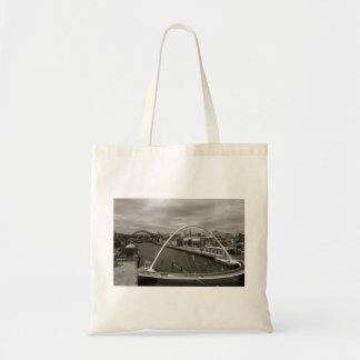 Millenium Bridge, Newcastle, England Tote Bag