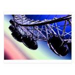 millenium wheel  London digital art Postcard