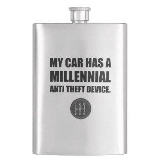 Millennial Anti Theft Car Stick Shift Funny Flask