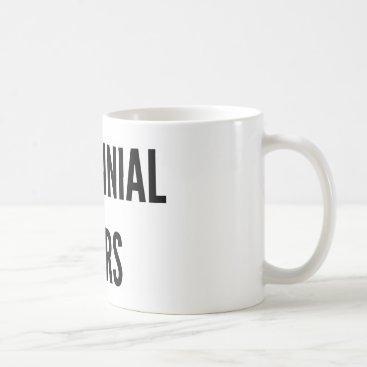 Christmas Themed Millennial tears funny Christmas mug