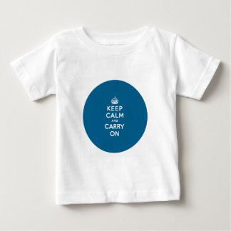 Millennium Blue Keep Calm and Carry On Baby T-Shirt