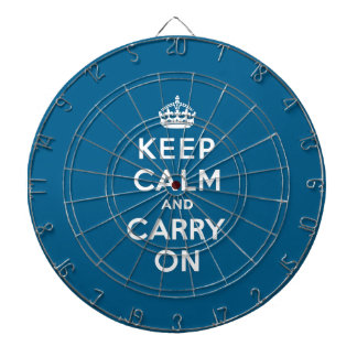Millennium Blue Keep Calm and Carry On Dart Board