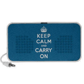 Millennium Blue Keep Calm and Carry On Travel Speakers