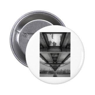 Millennium Bridge BW Pinback Button